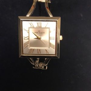 Anne Klein Bangle Watch Silver with goldtone